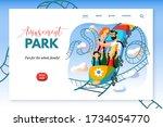 amusement park sitepage... | Shutterstock .eps vector #1734054770