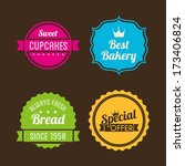 bakery design over black... | Shutterstock .eps vector #173406824
