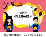 happy halloween. greeting card. ...   Shutterstock .eps vector #1734071666