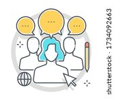 focus group related color line... | Shutterstock .eps vector #1734092663
