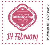 vector stylish cute valentines... | Shutterstock .eps vector #173410340