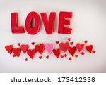 inscription love. valentine's... | Shutterstock . vector #173412338