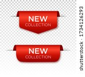 new collection tags set. badges ... | Shutterstock .eps vector #1734126293