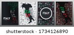 set of travel to italy banners. ... | Shutterstock .eps vector #1734126890
