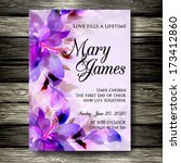 wedding invitation card | Shutterstock .eps vector #173412860