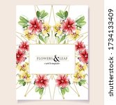 invitation greeting card with...   Shutterstock .eps vector #1734133409