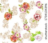 abstract elegance seamless...   Shutterstock . vector #1734134396