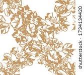 abstract elegance seamless...   Shutterstock . vector #1734134420