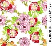 abstract elegance seamless...   Shutterstock . vector #1734134423