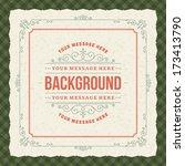 vintage background design... | Shutterstock .eps vector #173413790