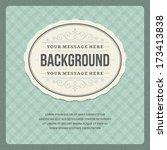 vintage background design... | Shutterstock .eps vector #173413838