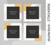 beautiful vector photo frame on ... | Shutterstock .eps vector #1734140906