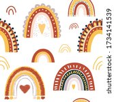 baby rainbow seamless pattern.... | Shutterstock .eps vector #1734141539