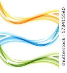 set of wavy banners | Shutterstock .eps vector #173415560