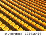 yellow stadium seats | Shutterstock . vector #173416499