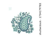 paisley vector isolated pattern.... | Shutterstock .eps vector #1734179783