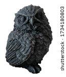 Black decorative owl figure...