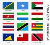 set  flags of world sovereign... | Shutterstock . vector #173419070