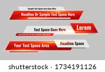 news style lower third red... | Shutterstock .eps vector #1734191126
