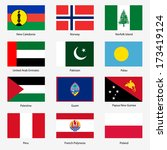 set  flags of world sovereign... | Shutterstock . vector #173419124