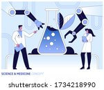 medical research in science... | Shutterstock .eps vector #1734218990