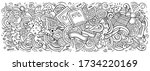 pizza hand drawn cartoon... | Shutterstock .eps vector #1734220169
