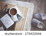 still life details  cup of... | Shutterstock . vector #173422046