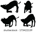 eps 10 vector silhouettes of... | Shutterstock .eps vector #173422139