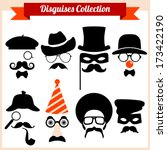 disguises collection | Shutterstock .eps vector #173422190