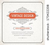 vintage design template. retro... | Shutterstock .eps vector #173422208