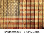 old painted american flag on... | Shutterstock . vector #173422286