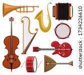 music instruments vector...   Shutterstock .eps vector #1734226610