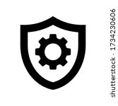 shield with gear icon symbol...   Shutterstock .eps vector #1734230606