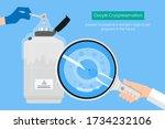 egg freezing embryo fertile... | Shutterstock .eps vector #1734232106