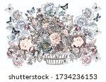 beautiful vector hand drawn...   Shutterstock .eps vector #1734236153