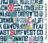 wave rider west coast... | Shutterstock .eps vector #1734256319