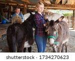 Portrait of female breeder...