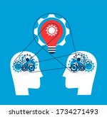 collaboration and synergy....   Shutterstock .eps vector #1734271493