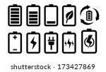 battery icon | Shutterstock .eps vector #173427869