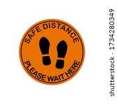 banner of social distancing... | Shutterstock .eps vector #1734280349