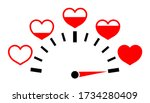 meter of love with hearts.... | Shutterstock .eps vector #1734280409