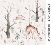 Watercolor Woodland Animals...