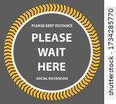 please wait here coronavirus ... | Shutterstock .eps vector #1734285770