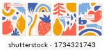 a set of backgrounds with...   Shutterstock .eps vector #1734321743