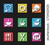 kitchen and cooking icons | Shutterstock .eps vector #173432420