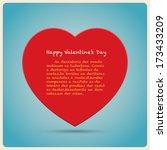 red heart  poster.illustration...   Shutterstock .eps vector #173433209