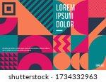geometric artwork background... | Shutterstock .eps vector #1734332963