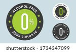 alcohol free stamp vector... | Shutterstock .eps vector #1734347099