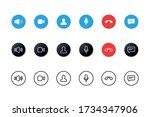 set of video call icons. video... | Shutterstock .eps vector #1734347906