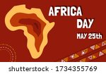 may 25 is africa day  vector... | Shutterstock .eps vector #1734355769